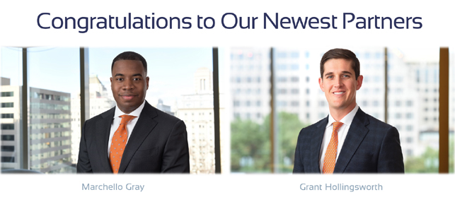 New partners announcement image for Gray and Hollingsworth