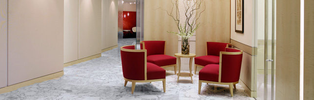 Image: red chairs in lobby (plain)